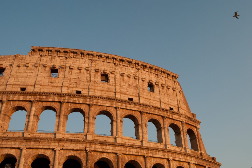 photo of the Roman Colosseum